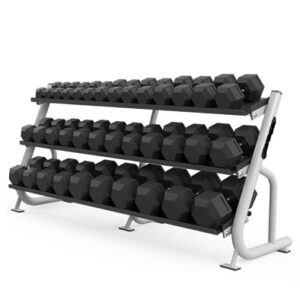BUGE – Dumbbell Rack 3 Tier Hex LUX