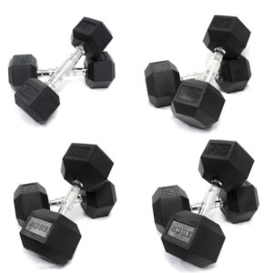 Buge Hex Dumbbells Set 5 Lbs – 50 Lbs